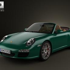 Porsche 911 Carrera S Cabriolet 2011 3D Model