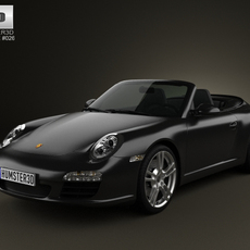 Porsche 911 Carrera Black Edition Cabriolet 2011 3D Model