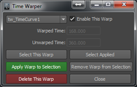 Time Warper 1.0.1 for Maya (maya script)