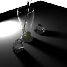 Nice Glass material for Maya 1.0.1
