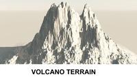 3d Terrain Volcano 3D Model