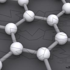 Carbon structures: Graphene, nanotube and fullerene. 3D Model