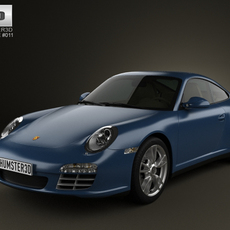 Porsche 911 Carrera 4 Coupe 2011 3D Model
