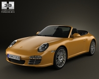Porsche 911 Carrera 4 Cabriolet 2011 3D Model