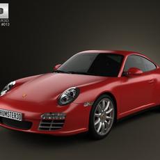 Porsche 911 Carrera 4S Coupe 2011 3D Model