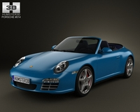 Porsche 911 Carrera 4S Cabriolet 2011 3D Model