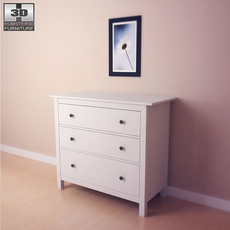 IKEA HEMNES Chest of 3 drawers 3D Model