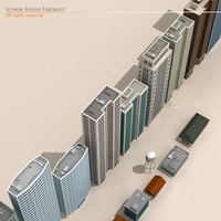 Low poly buildings collection 3D Model