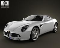 Alfa-Romeo 8C Competizione 2007 3D Model
