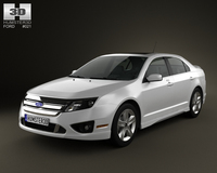 Ford Fusion Sport 2010 3D Model