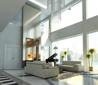 Photoreal Luxury House Interior 3D Model