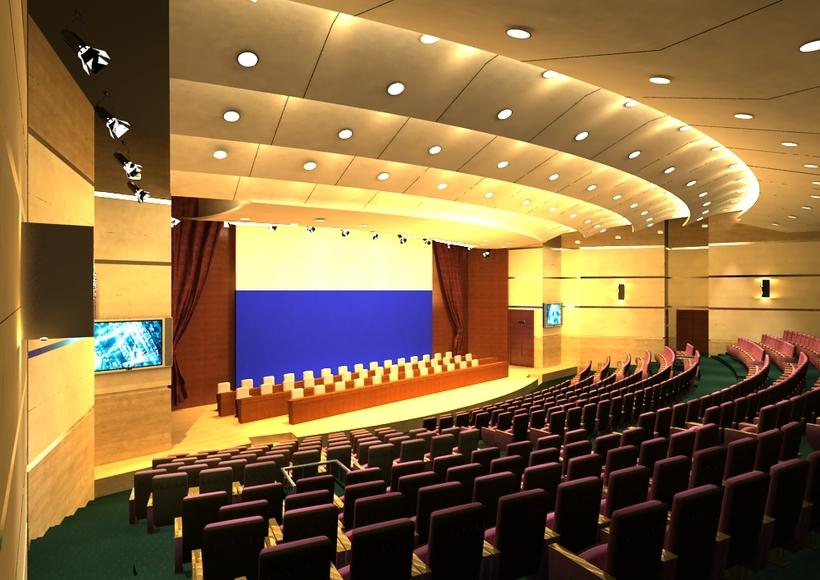 Auditorium room 001 3D Model