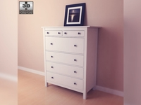 IKEA HEMNES Chest of 6 drawers 3D Model