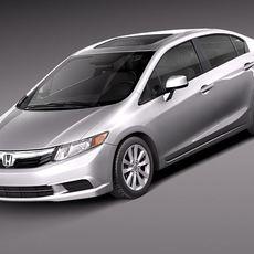 Honda Civic Sedan Usa 2013 3D Model
