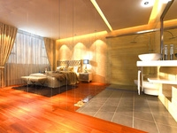 Hotel Room 001 3D Model