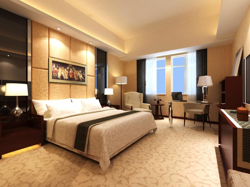 hotel room 002 3d model rh highend3d com hotel room interior 3d model hotel room sketchup model