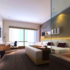 Hotel Room 005 3D Model