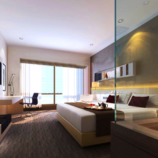 Hotel Room 006 3D Model