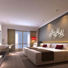Hotel Room 008 3D Model