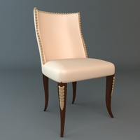 Elegant Side Chair 3D Model