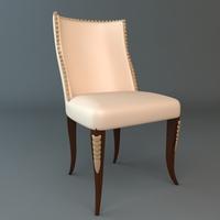 Elegant Side Chair 3D Model
