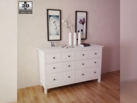 IKEA HEMNES Chest of 8 drawers 3D Model