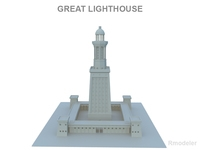 Great Light House of Alexandria 3D Model