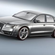Audi S8 2012 3D Model