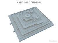 Hanging Gardens of Babylon 3D Model