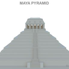 Maya Pyramid 3D Model