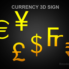 Currency sign  3D Model