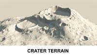 3d Terrain Crater 3D Model