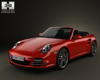 Porsche 911 Turbo Cabriolet 2011 3D Model