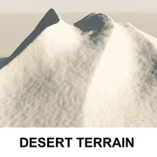 3d Terrain Desert 3D Model