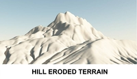 3d Terrain Eroded Hill 3D Model