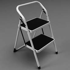 Folding steps / step stool 3D Model