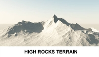 3d Terrain High Rocks 3D Model
