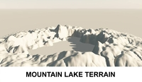 3d Terrain Mountain Lake 3D Model