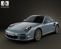 Porsche 911 Turbo S Coupe 2011 3D Model