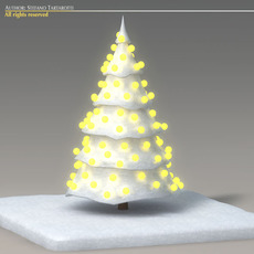 Toon snow tree 3D Model