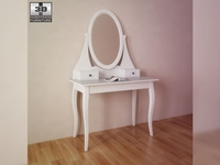 IKEA HEMNES Dressing table with mirror 3D Model
