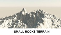 3d Terrain Small Rocks 3D Model