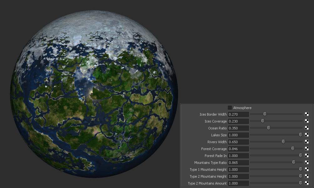Procedural Earthlike Planet for Maya