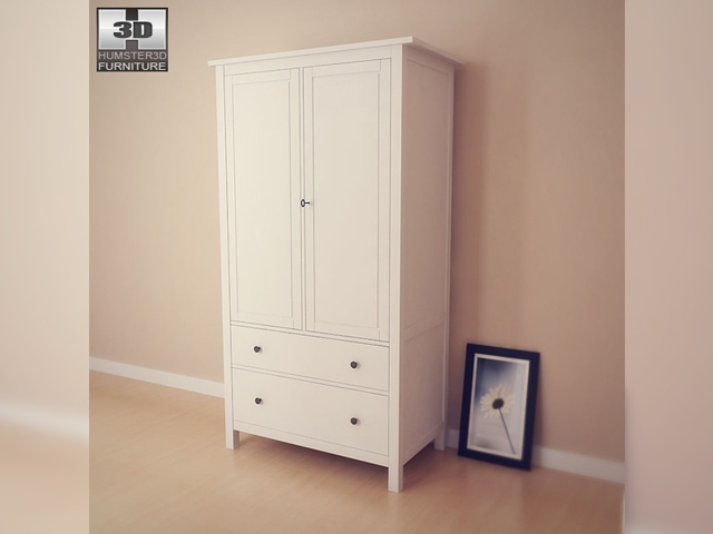 IKEA HEMNES Wardrobe 3D Model
