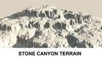 3d Terrain Stone Canyon  3D Model