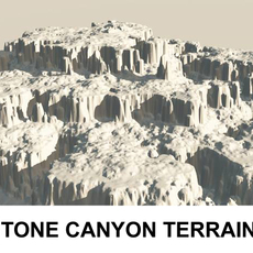3d Terrain Stone Canyon  3D Model