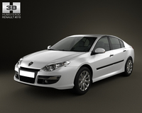 Renault Laguna 2011 3D Model
