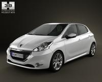 Peugeot 208 2013 3D Model
