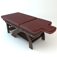 Leather Massage Table 3D Model