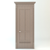 Wooden Door and Casing 3D Model
